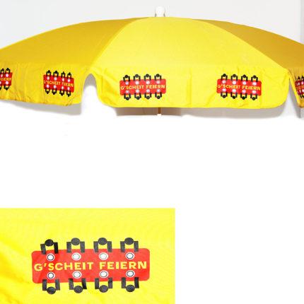 GF-Sonnenschirm, gelb, 180 cm inkl. Ständer
