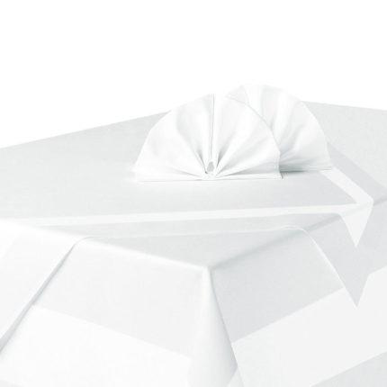 Mundservietten weiß, gefaltet: Fächer