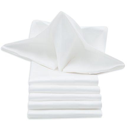 Mundserviette weiß 50x50 cm