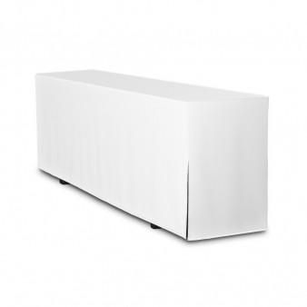Biertischhusse 200x50 weiß premium bodenlang