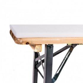 Zusätzliches Bild fürBiertischgarniturhussen 200x50 weiß 5 teilig inkl. Sitzauflagen