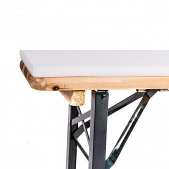 Biertischgarniturhussen 200x50 weiß 5 teilig inkl. Sitzauflagen