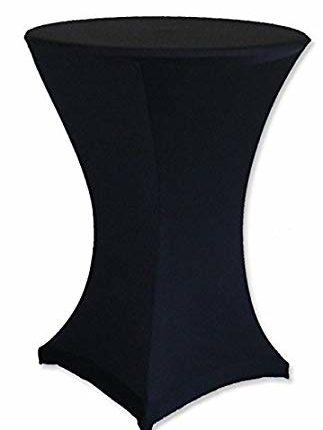 Stehtisch-Husse, schwarz, stretch