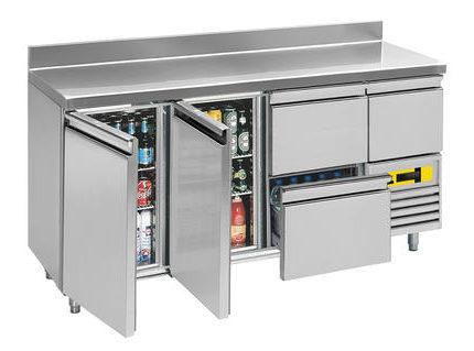 Kühlpult 2 Türen 3 Laden