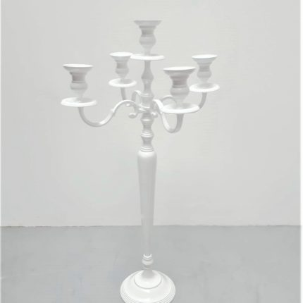 Kerzenständer weiß_5-armig